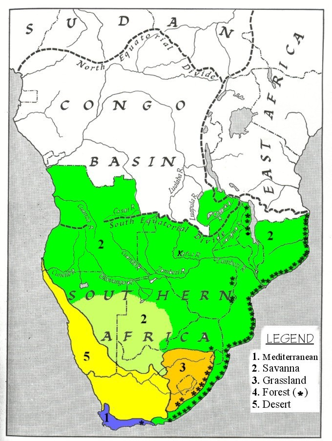 Maps Used in Course Okavango Basin Information System